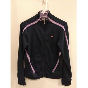 Nike Fit Dry size S (4-6) navy blue active jacket